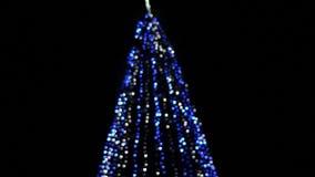 Decorated christmas tree stock footage