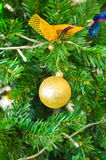 Decorated Christmas tree. Part of decorated Christmas tree Stock Photos