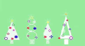 Decorated Christmas Tree Shapes Royalty Free Stock Image