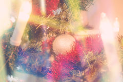 Decorated Christmas Tree. Sparkling Close-up of Decorated Christmas Tree Royalty Free Stock Photo