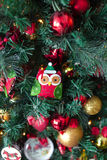 Decorated christmas tree with toys Stock Images