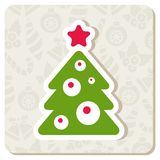 Decorated Christmas tree. Vector illustration Royalty Free Stock Photos