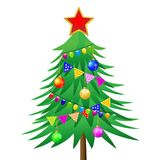 Decorated christmas tree Royalty Free Stock Photo