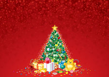 Decorated Christmas Tree Vector Stock Images