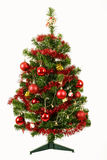 Decorated christmas tree on white background Royalty Free Stock Photography