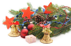 Decorated Christmas tree. Royalty Free Stock Photos