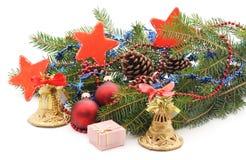 Decorated Christmas tree. Royalty Free Stock Photos