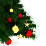 Decorated Christmas tree Royalty Free Stock Photos