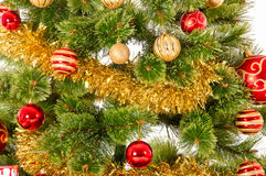 Decorated Christmas tree on white background Royalty Free Stock Image