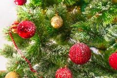 Decorated Christmas tree on white background Stock Image