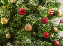 Decorated Christmas tree on white background Royalty Free Stock Image