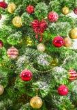 Decorated Christmas tree on white background Royalty Free Stock Photo
