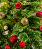 Decorated Christmas tree on white background Royalty Free Stock Images