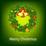 Decorated Christmas Wreath Stock Photography