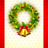 Decorated Christmas Wreath Stock Images