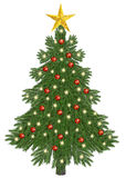 Decorated christmastree Stock Photo