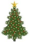 Decorated christmastree. On white background Stock Photo