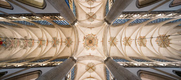 Decorated church ceiling Stock Images