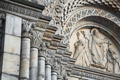 Decorated Church Columns Stock Photography