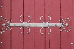 Decorated church door Royalty Free Stock Photos