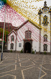 Decorated church on Madeira Stock Photo