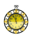 Decorated clock Royalty Free Stock Images