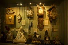 Decorated clocks stock photos