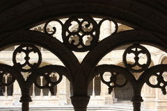 Decorated cloister arches Stock Photo
