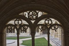 Decorated cloister arches Royalty Free Stock Image