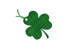 Decorated with a clover pattern tied with green ribbon. St.Patrick Royalty Free Stock Photos