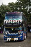 Decorated coach bus in Thailand royalty free stock image
