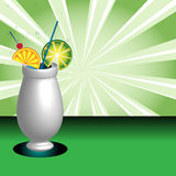 Decorated cocktail glass Stock Images