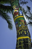 Decorated coconut tree Royalty Free Stock Photo