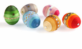 Decorated colorful Easter eggs Royalty Free Stock Photos