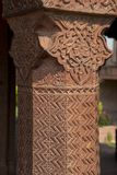 Decorated Column in Fatehpur Sikri Royalty Free Stock Image