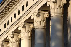 Decorated columns royalty free stock photography