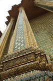 Decorated Columns of Thai Temple Royalty Free Stock Photos