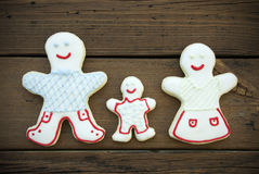 Decorated Cookie Family Royalty Free Stock Images