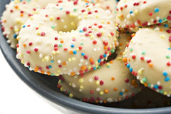 Decorated cookies in a bowl Royalty Free Stock Photography
