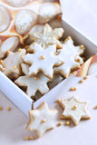Decorated cookies in a box Royalty Free Stock Photography