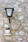 Decorated Country Stone Wall Stock Photo