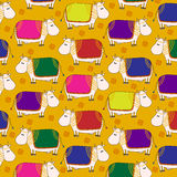 Decorated Cow doodle pattern Royalty Free Stock Photography