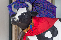 Decorated cow Royalty Free Stock Images
