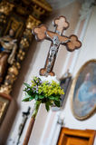 Decorated Cross in a Church Royalty Free Stock Images