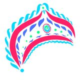 Decorated crown for Russian girls, folklore, pattern.  vector illustration