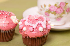 Decorated cup cakes Royalty Free Stock Photography