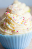 Decorated Cup Cakes Close Up Stock Photo
