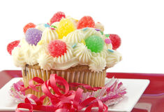 Decorated Cupcake Stock Photos