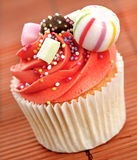 Decorated cupcake Stock Images