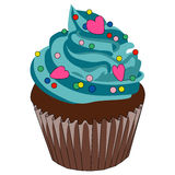 Decorated cupcake Royalty Free Stock Images